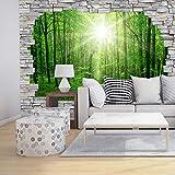3D Stone Sunny Forest Wall Mural - Premium Fleece Wallpaper - Large - on roll - 151' x 102' - incl. wallpaper glue - FT-AL-106-260 - Wall-Art US