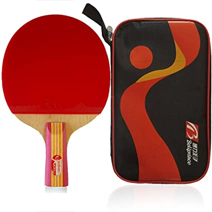 Boliprince Pink Five Plies Table Tennis Racket Ping Pong Paddle for Women  Female Girls (Penhold 3b7c45e1d