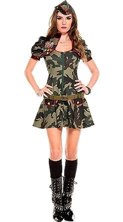 【ハロウィン】強気のアーミースタイルで攻めてみて♪カモフラージュ柄ジャケット&スカート☆アーミーコスプレセット [SU007-kn]