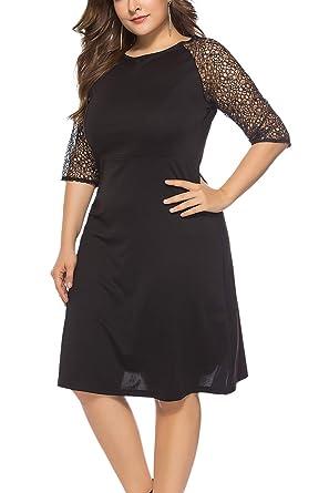 Plus Size Black Work Dress