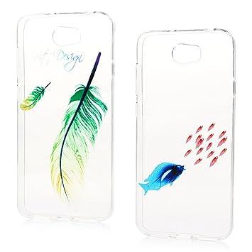 Lanveni Huawei Y5 2 Case ,Couple&Shy Colorful Drawing