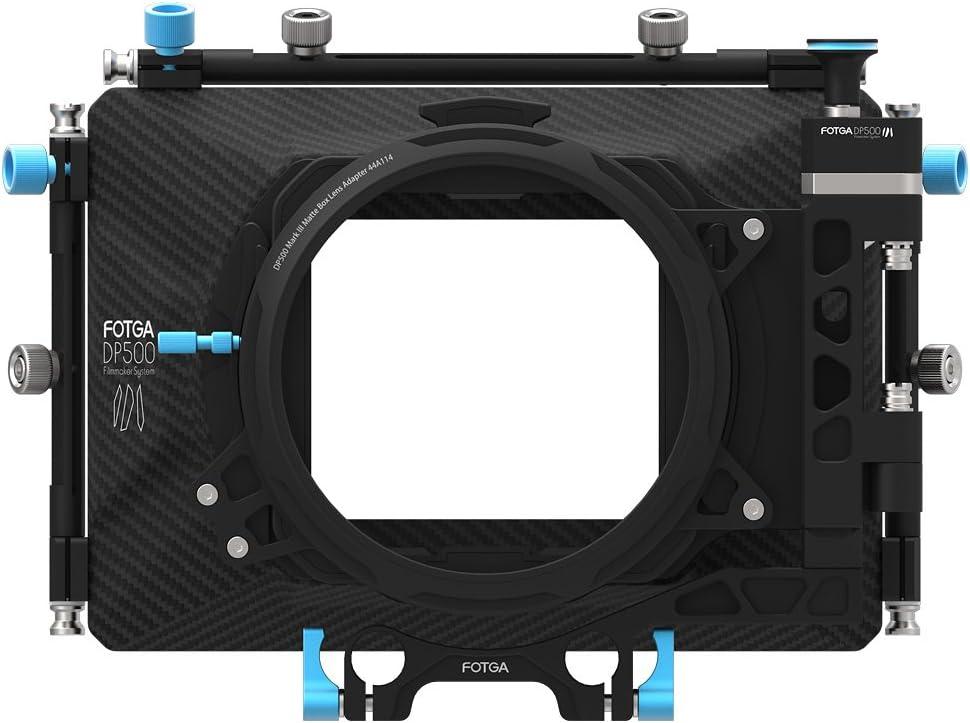 Fotga Aggiornato DP500 Mark III Professionale DSLR Scivoli via Kit Matte Box con ombrelloni per 15 millimetri Canne sistema Rig Misura per tutti DSLR Video Cameras come Blackmagic BMCC BMPCC Canon 5D MarkII MarkIII 5DIV Sony A7R A7RII A7 A7II A7S A7SII Pan