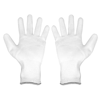Glove White Nylon Shell Pu Palm Coating Durable Multi-purpose Heavy Duty 12 Pair Garden Clothing & Gear Gardening Supplies