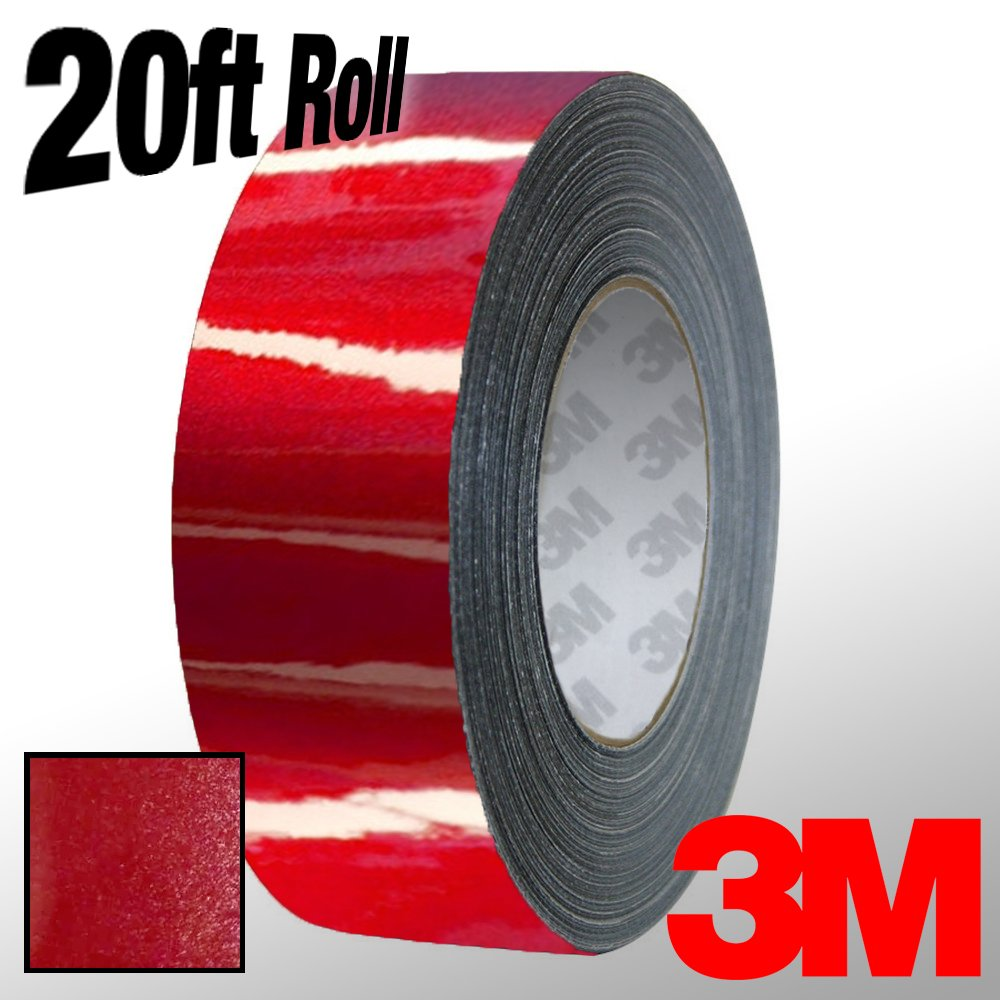 VViViD 3M 1080 Metallic Red Gloss Vinyl Detailing Wrap Pinstriping Tape 20ft Roll 4 x 20ft