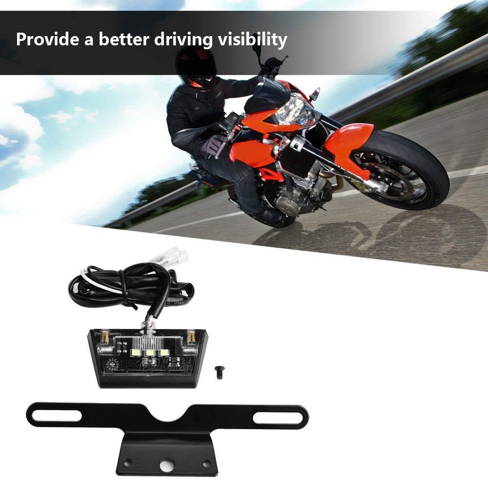 Universal Motorrad Nummernschildbeleuchtung Kennzeichenleuchte mit Halterung