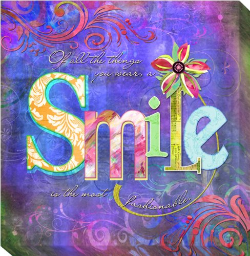 Smile Fashion by Connie Haley Gallery-Wrapped Custom Canvas Giclee (Ready-to-Hang) - Haley Double Wrap