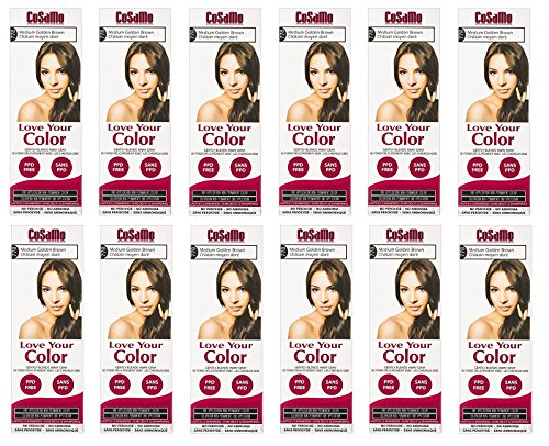 CoSaMo - Love Your Color Non-Permanent Hair Color 778 Medium Golden Brown - 3 oz. (Pack of 12) + FREE Scunci Effortless Beauty Black Clips, 15 Count by CoSaMo