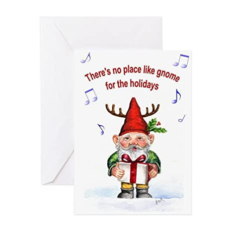 Amazon Cafepress Theres No Place Like Gnome Greeting Cards