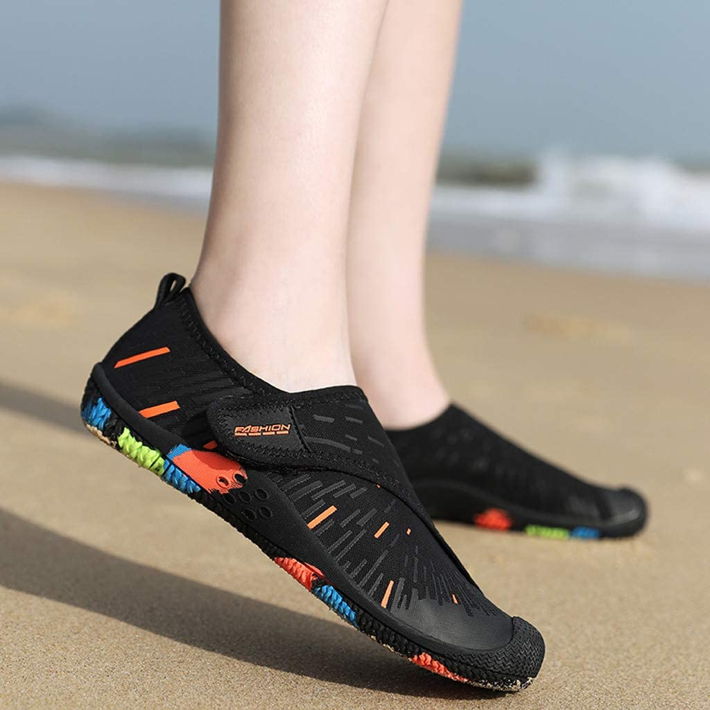 Bravetoshop Men Women Water Sports Shoes Slip-on Quick Dry Aqua Swim Shoes for Pool Beach Surf Walking