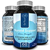 Thyroid Support Complex with Vitamin B-12 Zinc and Iodine, Energy Mood Support and Weight Loss, Pure Natural Formula with Minerals Thyroid Supplement for Men & Women, 60 Capsules - 61p 2BWklF7 2BL - Thyroid Support Complex with Vitamin B-12 Zinc and Iodine, Energy Mood Support and Weight Loss, Pure Natural Formula with Minerals Thyroid Supplement for Men & Women, 60 Capsules