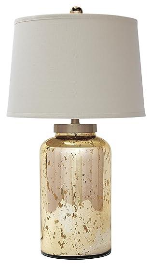 Amazon Com Signature Design By Ashley L430054 Glass Table Lamp