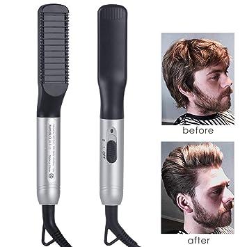 Plancha de pelo barba flequillo para Los hombres Peine ...