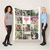 VENMAT Manta Personalizada con Foto Franela Fleece 1-12 Fotos Collage Cualquier Imagen…