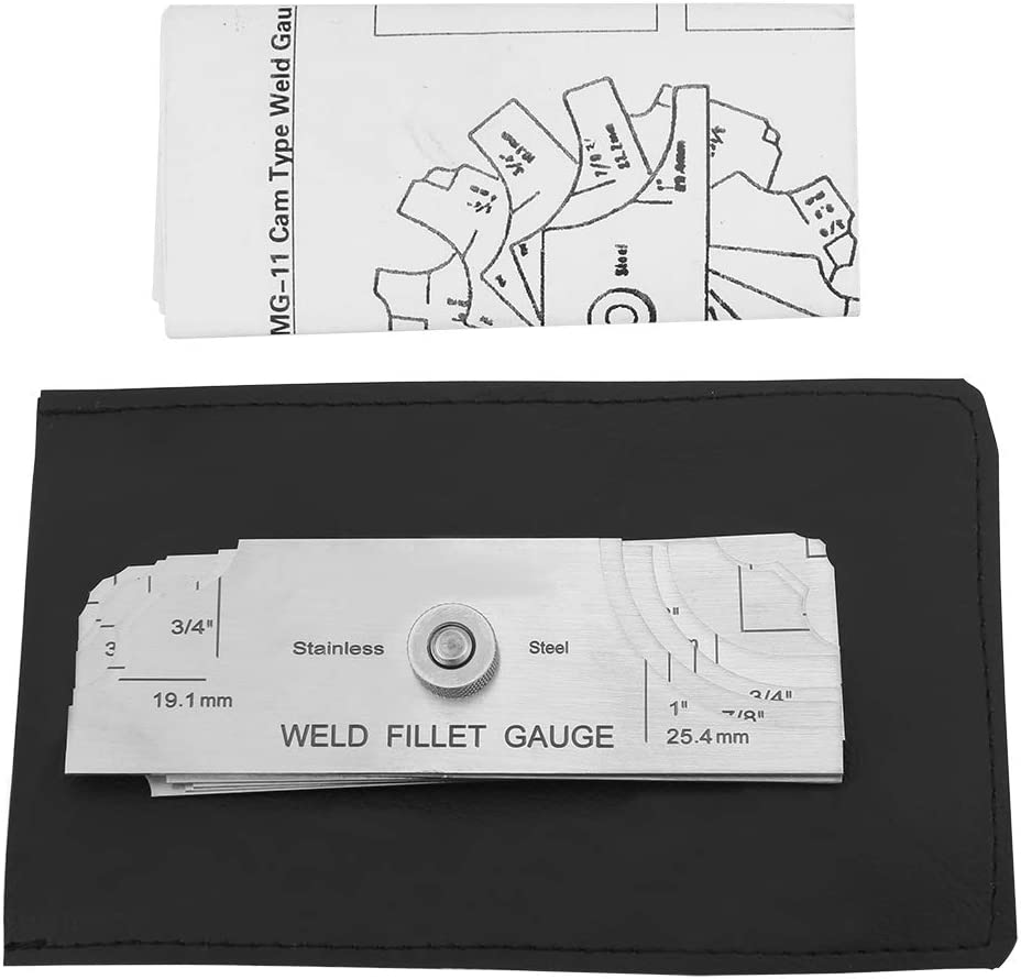 Perfect for checking Leg Length and Throat Thickness for Professional Welders Fillet Welding Inspection Gauge 7Pcs Fillet Weld Gauge Gage Set Stainless Steel Test Ulnar Metric /& Inch