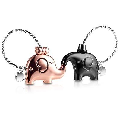 QGWZ Portachiavi Amante 1 Paio Carino Key chain e Uomo Donna Amore ad Anello con Bocca Magnetica, regalo per Coppia Fidanzata, Lega di zinco