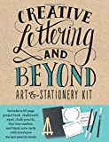 Creative Lettering and Beyond Art & Stationery Kit: Includes a 40-page Project Book, Chalkboard, Easel, Chalk Pencils, Fine-line Marker, and Blank Note Cards With Envelopes