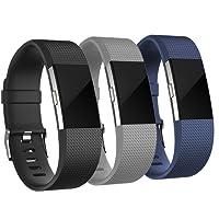 Adepoy Ersatzarmband Kompatabel Für Fitbit Charge 2, Verstellbare Weiches Silikon Sport Ersatzarmband kompatabel für Fitbit Charge2