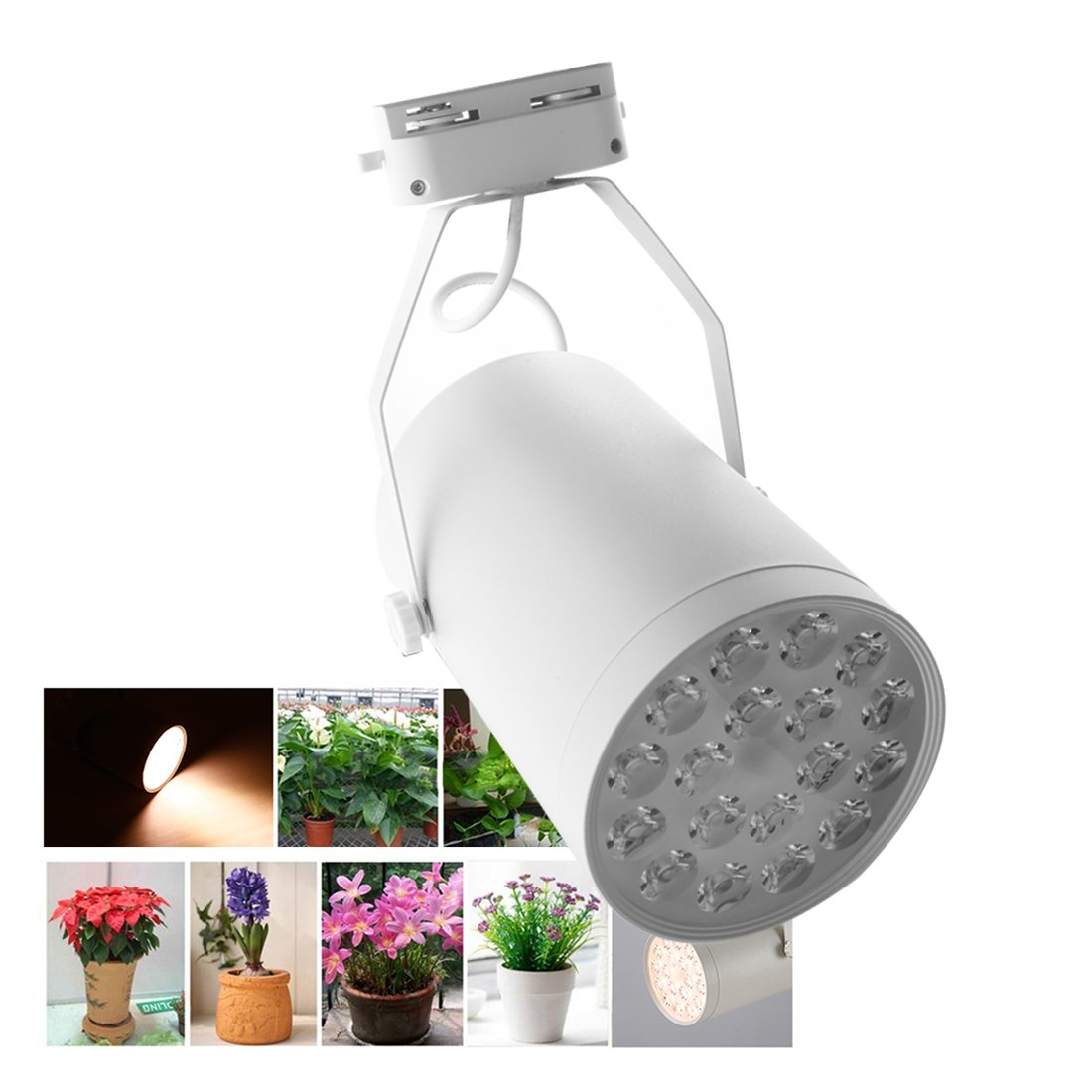 A-szcxtop Upgraded 18W LED Spotlight 18 LED Bulbs Plant Growth Light Adjustable for Patio, Yard, Driveway, Office, Home Garden, Greenhouse … by A-szcxtop (Image #2)