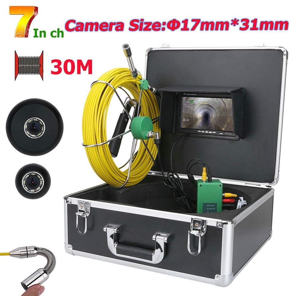 最高品質の 7インチ17ミリメートル工業用パイプ下水道検査ビデオカメラip68 B07P8DX3BC 1000 1000 tvlカメラで8ピースledライト,20M B07P8DX3BC 30M 30M 30M, コンペパートナー:f44d0024 --- arianechie.dominiotemporario.com
