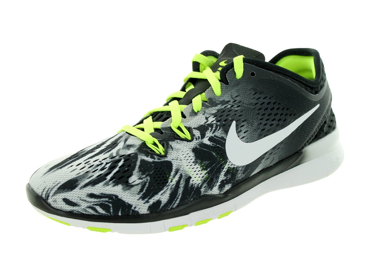 Nike Women's Free 5.0 Tr Fit 5 (5.5 B(M) US, Black/White/Volt) by Nike (Image #1)