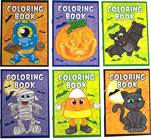 Halloween Coloring Book Bundle Includes 12 Books (2 of Each Style) and 1 Non-Negotiable Million Dollar Bill By Imprints Plus (Printable Halloween Masks For Preschool)