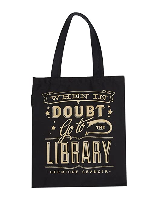 Out of Print HARRY POTTER When in Doubt Tote Bag, 15 X 17 Inches