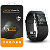 [3-Pack] Fitbit Surge Fitness Superwatch Tempered Glass Screen Protector, Supershieldz Anti-Scratch, Anti-Fingerprint, Bubble Free