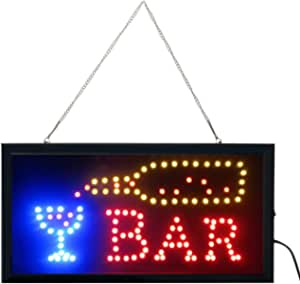 LED Neon Light Open Sign with Animation On/Off and Power On/Off Two Switchs for Business (Bar Sign L02)