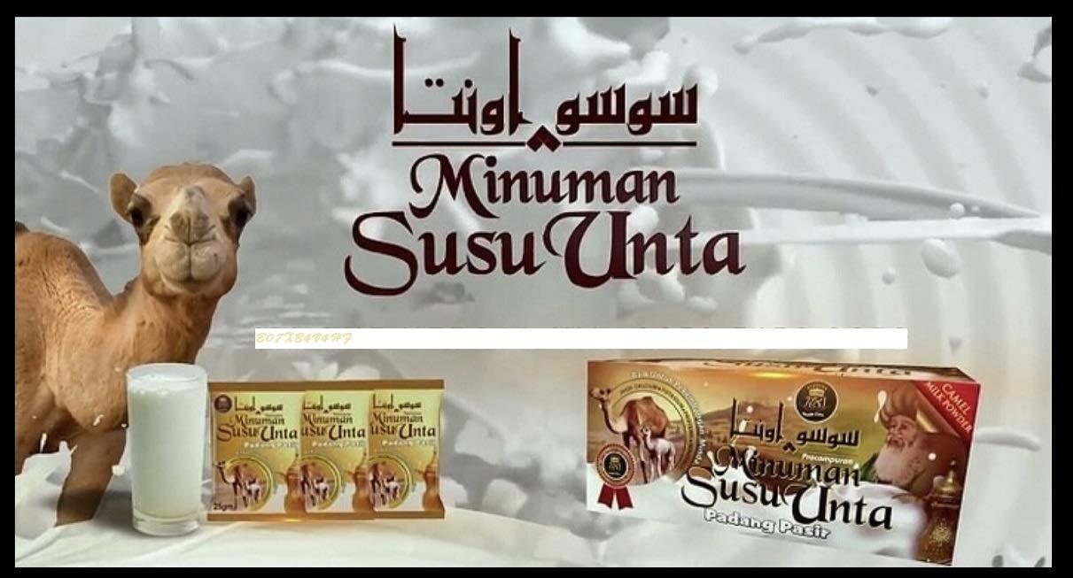 SUSU UNTA Camel milk powder RAW (3boxes)=(60's) sachets x 25g=(52.92 Oz)=(1500 grams)=(592 fl oz) HALAL & KOSHER.(USA ORIGIN PROUD COMPANY) by Susu Unta