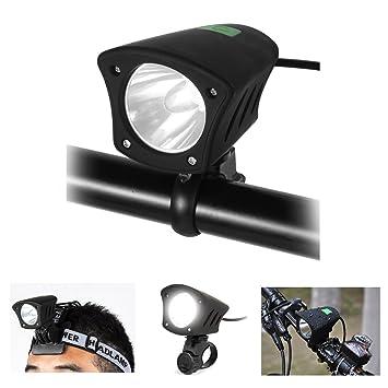 a4ee3008914 LED Luz Delantera Bicicleta Impermeable 5 Modos Luces Brillante 1200 Lumens  Faros Headlight Linterna Frontales CREE