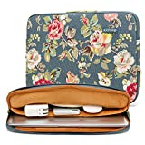 kayond Water-Resistant Canvas 15.6 Inch Laptop Sleeve-Blue Water Hyacinth