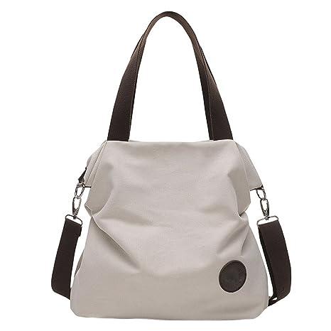 9c074803840c EasyHui Vintage Crossbody Shoulder Messenger Bag Fashion Canvas Handbag  Tote Bag for Womens Girls Beige