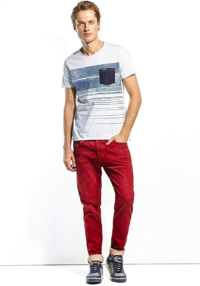 Salsa Jeans - Camiseta Hombre Manga Corta Salsa JEANS1120650001 - Blanco, XXL: Amazon.es: Ropa y accesorios