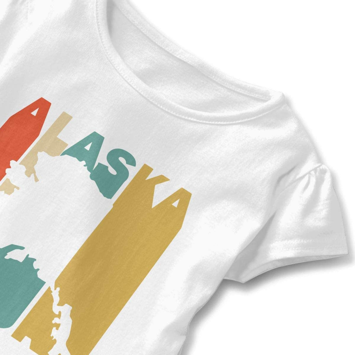 Toddler Baby Girl Retro Style Alaska Silhouette Funny Short Sleeve Cotton T Shirts Basic Tops Tee Clothes