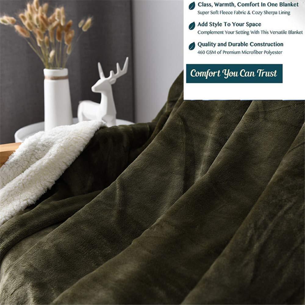 Abreeze Sherpa Fleece Blanket Throw Size Yellow Plush Throw Blanket Fuzzy Soft Blanket Microfiber 39 X 47 Throws