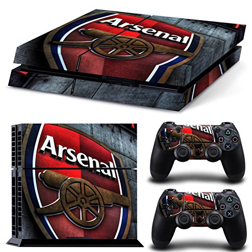 FriendlyTomato PS4 Console and DualShock 4 Controller Skin Set - Soccer Football - PlayStation 4 Vinyl Futbol Manu (Soccer Vinyl)