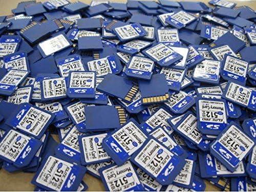 512 MB SDカードセキュリティデジタルSDカード、メモリーカードハイスピード対応、カメラカムコーダー、コンピューター、カーリーダー、その他のSD対応デバイスと互換性あり 100 Pcs