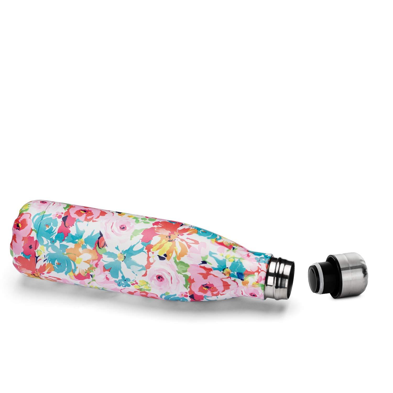 senza BPA Borraccia termica a doppia parete sottovuoto mantiene il caldo 12 ore//freddo 24 ore per sport a bocca stretta 500 ml 482 g Azzurro. in acciaio inox 304 a prova di perdite