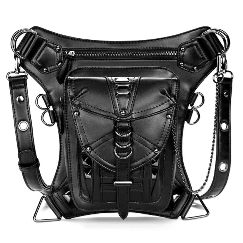 Rullar Unisex Waterproof Waist Bag Tactical Drop Leg Bag Bike Cycling Hiking Fanny Pack Hip Thigh Bag Pouch Shoulder Crossbody Bag Black by Rullar