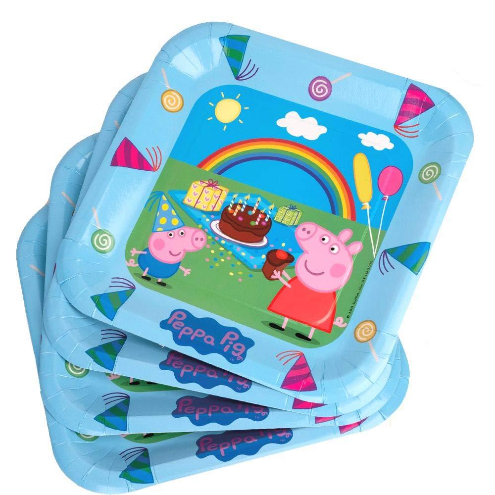 Peppa Pig Plato de Fiesta | 23 cm | 6 Piezas Fiesta de ...