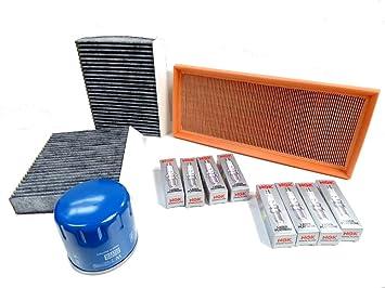 Mann Premium Kit de servicio para 1.6 Twin Spark 120 km aire cabina filtros de aceite y bujías nuevo: Amazon.es: Coche y moto