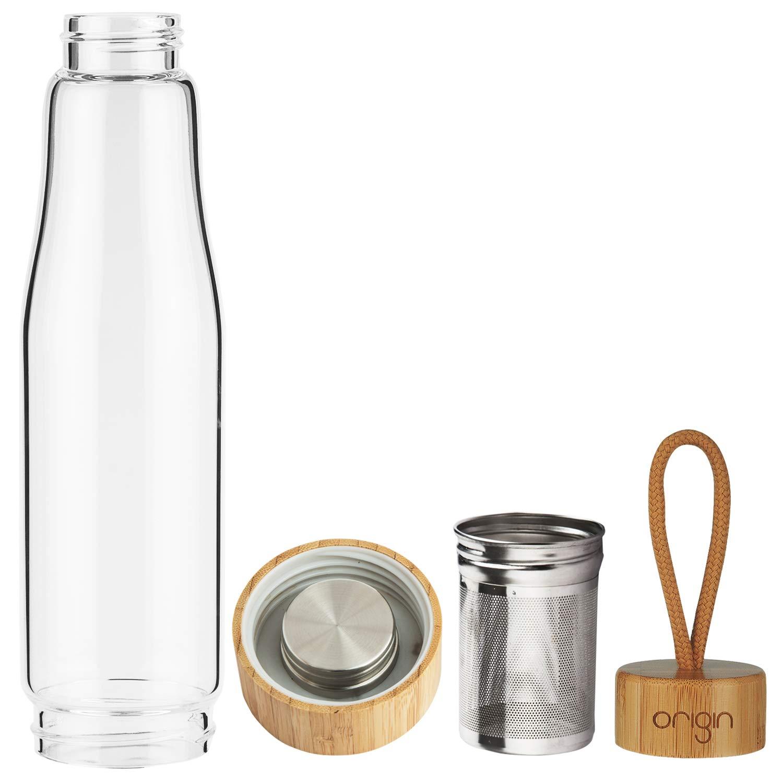 Amazon.com: Origin - Botella de agua de vidrio de ...