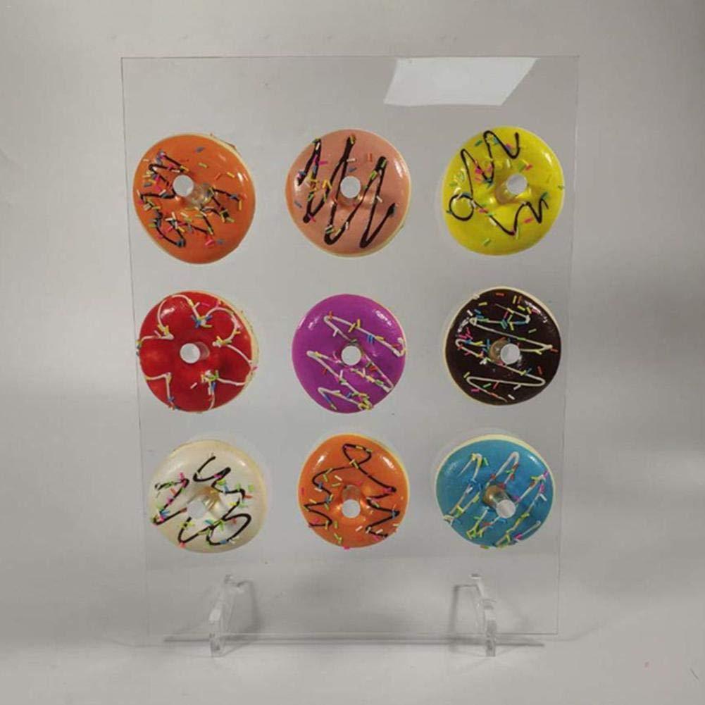 Ntribut Donuts Soporte De Exhibici/ón De Pared Soporte De Acr/ílico Donut Soporte Reutilizable Donuts Rack Display para Bodas Cumplea/ños Donut Party Supplies
