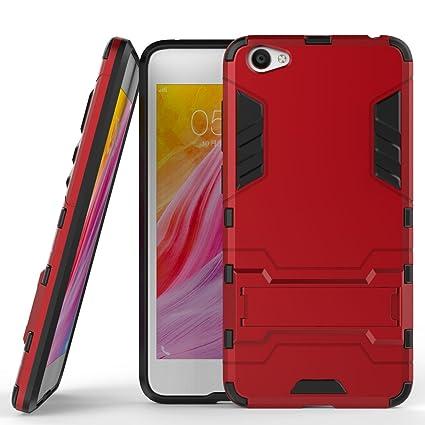 low priced 88a09 3197f Amazon.com: vivo Y55 Hybrid Case, vivo Y55 Shockproof Case, Dual ...