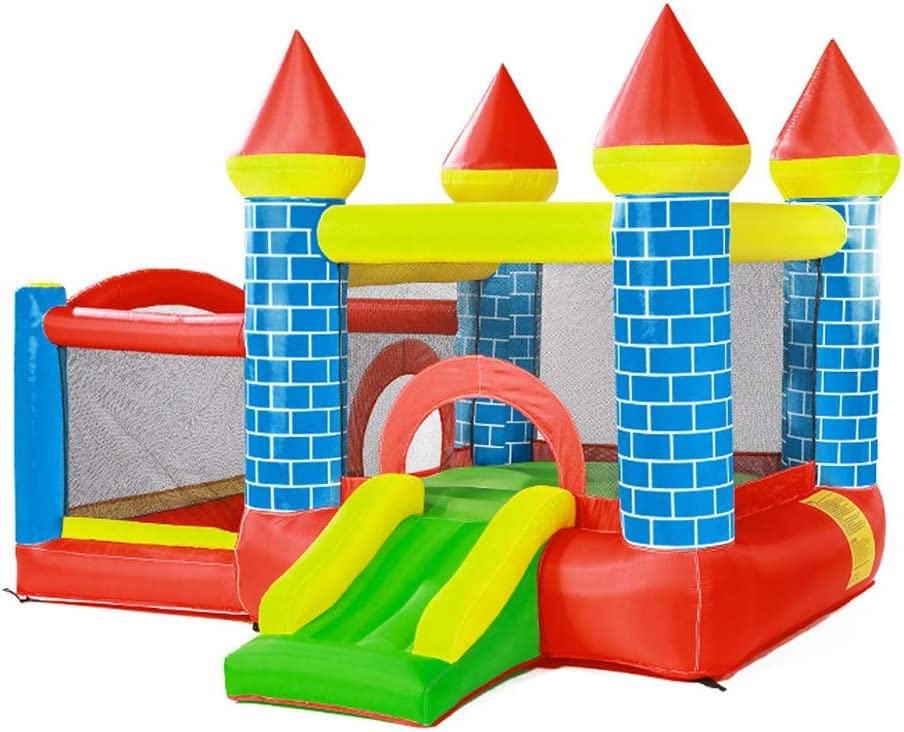 Tobogán inflable Castillo Inflable para Niños Niños Pequeños Cama Elástica para Niños Parque De Diversiones Al Aire Libre Juguetes para Niños