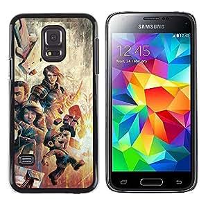 Stuss Case / Funda Carcasa protectora - Gaming Characters Poster - Mari0 - Samsung Galaxy S5 Mini, SM-G800
