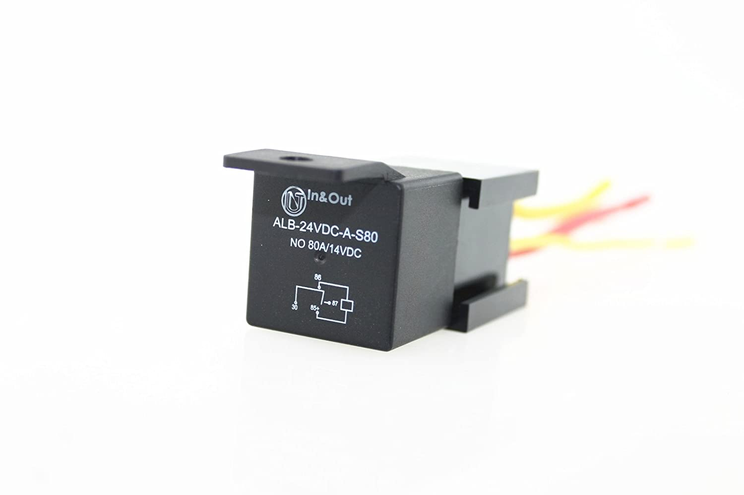 Iztoss 4 Pin Car Auto Relay 24v 80a With Bosch Style S 5 Harness Socket Pack Automotive