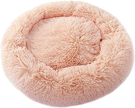Image of Dastrues Dog Bed Dog Bed Cat Bed Pet Beds for Cats Pet Bed, Pet Beds for Cats, Pet Beds for Dogs Cat Pet Dog Cat Calming Bed Round Nest Warm Soft Plush Comfortable for Sleeping Winter