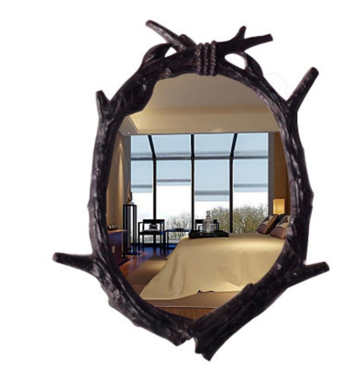 GAOJIAN European-Style Bathroom Mirror Retro Wall Dressing Beauty Decorative Mirror Bathroom Wash Mirror , a