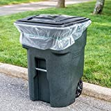 65 Gallon Trash Bags for Toter (Clear, 50 Garbage Bags Per Case)